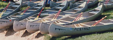 Canoes the Muskegon River