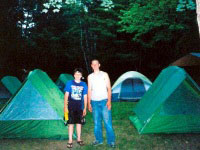 Youth group camping at White Birch Canoe Trips and Campground